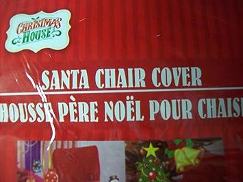 Amazon.com: CHRISTMAS CHAIR BACK COVERS SANTA HAT MOTIF -Set Of 4 ...