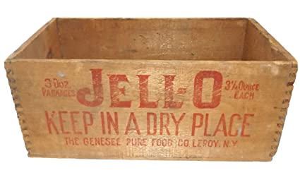 Amazoncom Antique Wooden Jell O Gelatin Advertising Crate Genesee