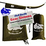 """Chill Gorilla Snakeskin Sleeves. Instant Stuff Sack & Protective Cover for hammocks, rain flys, tarps. 173"""" Total. Packs/unpacks Gear in Seconds. ENO Camping & Backpacking Accessories"""