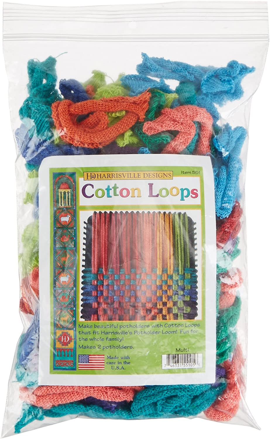 Harrisville Designs Traditional Potholder Loops Quantity of 20 Color White NEW