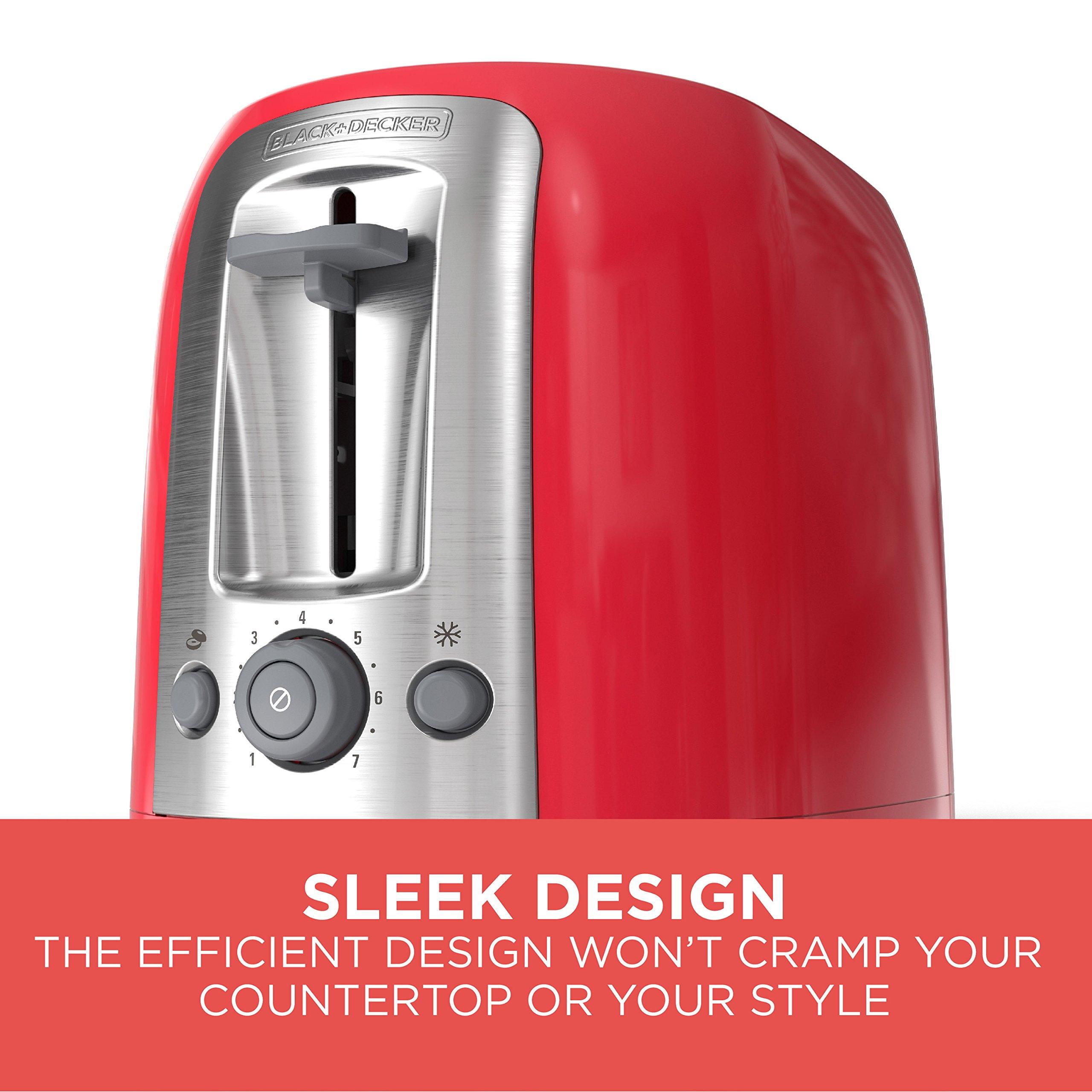 BLACK+DECKER 2-Slice Toaster, Red, TR1278RM by BLACK+DECKER (Image #4)