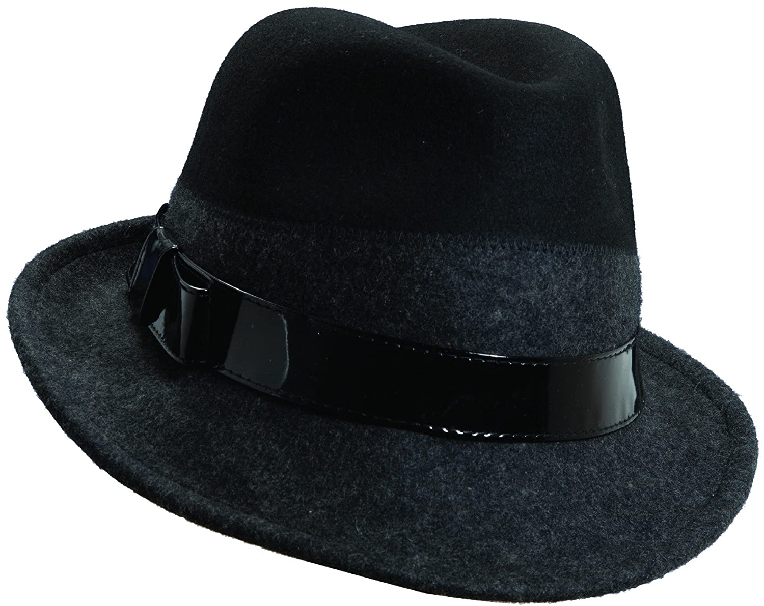 Callanan Suzanne 2 Tones Fedora Wool Hat-Black Charcoal-One Size Fit All at  Amazon Women s Clothing store  305d8a4c01c