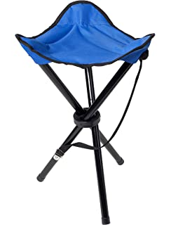 Chesna™ Outdoor Folding Tripod Portable Camping Stool With Velcro Strap And  Carry Handle For Fishing