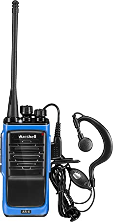 Arcshell Rechargeable Long Range Two-Way Radios with Earpiece 2 Pack UHF 400-470Mhz Walkie Talkies Li-ion Battery and Charger Included 4350439793