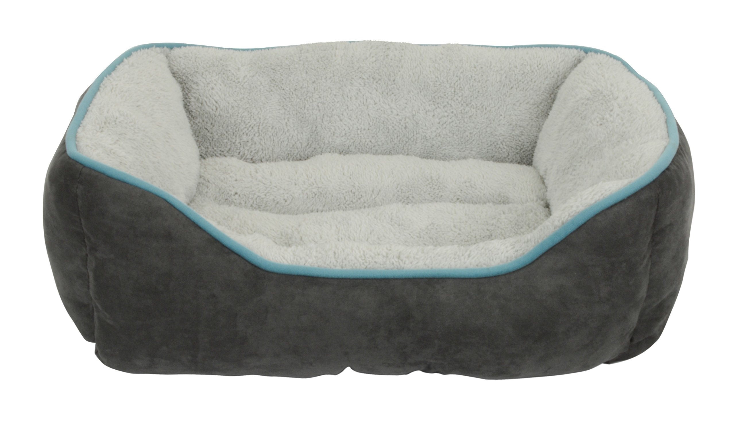 Dallas Manufacturing Co. 25'' Faux Suede Box Pet Bed