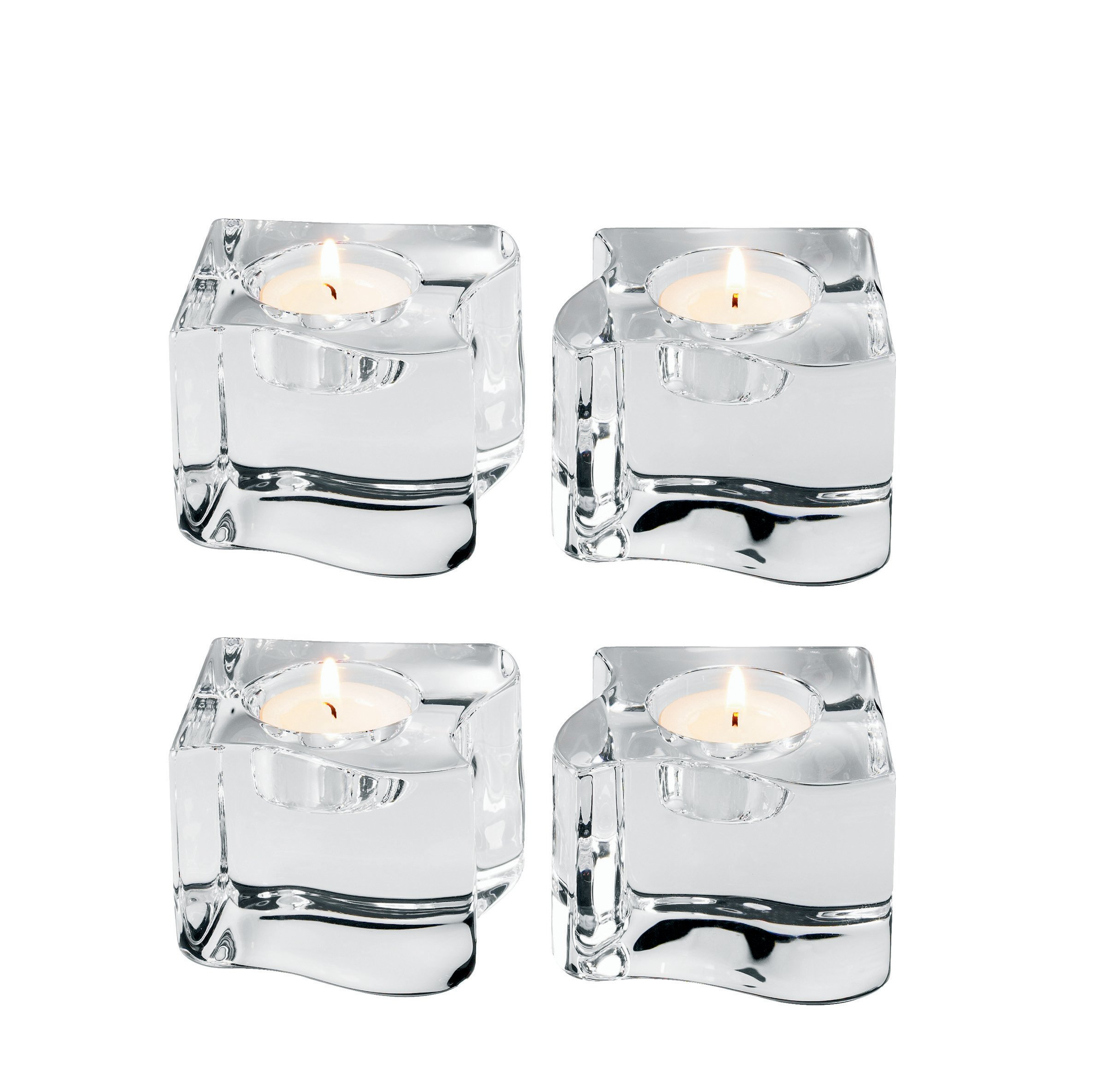 Orrefors Puzzle Votives, Set of 4 by Orrefors