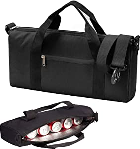 LLYWCM Golf Cooler Bag - Insulated Sided Soft Cooler Hold 6 Pack of Cans or 2 Wine Bottles with Heavy Duty Handle Adjustable Shoulder Strap