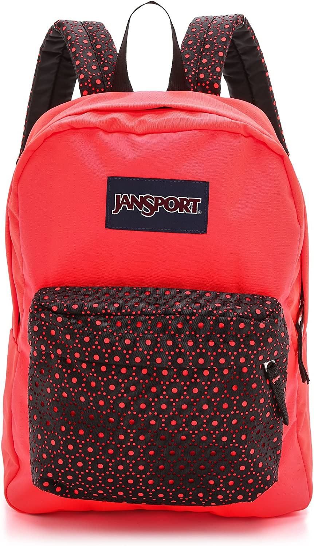 JanSport High Stakes Backpack Black Laser Lace
