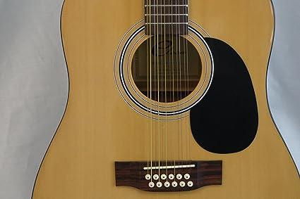 Guitarra acústica Eleca Dreadnought, 12 cuerdas, Naturaleza, DAG-3 ...