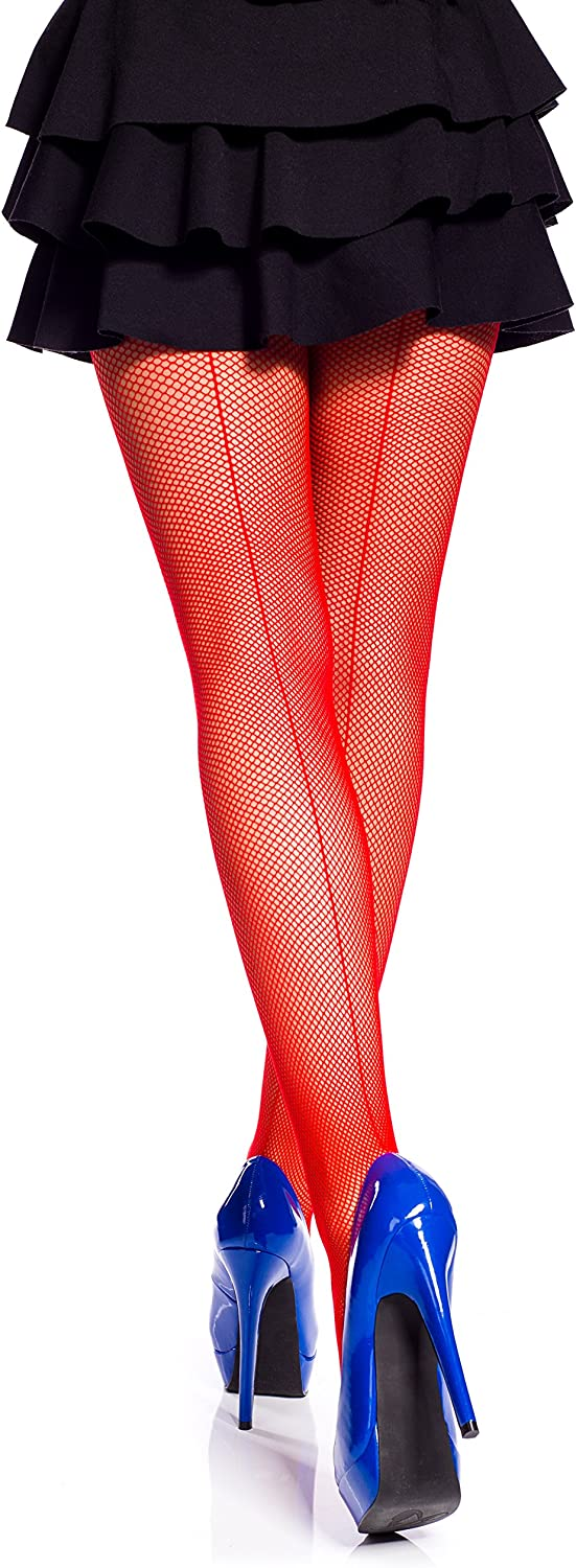 Ladies Fishnet Tights With Back Seam by Romartex Sizes S-XL 4 Colours