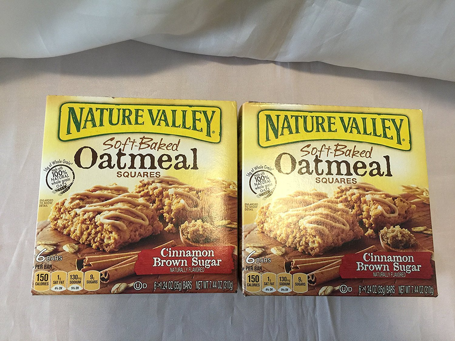 Nature Valley, Soft-Baked Oatmeal Squares, Cinnamon Brown Sugar, 7.44oz Box (...