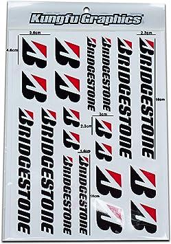 7.2x 10.2 inch Kungfu Graphics Micro Sponsor Logo Racing Sticker Sheet Universal 22 White Black MSS