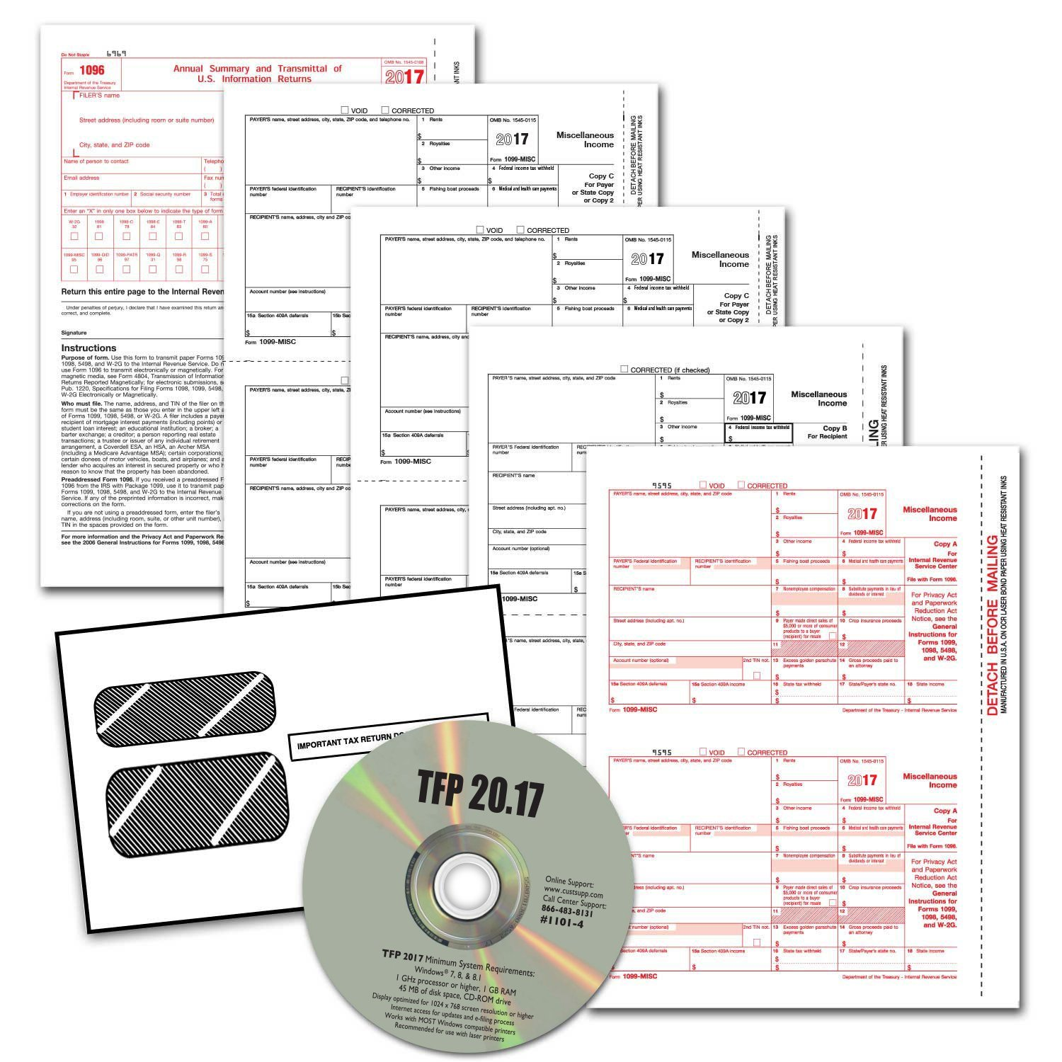 Amazon tangible values 1099 misc laser forms 4 part kit amazon tangible values 1099 misc laser forms 4 part kit with envelopes plus tfp software for 25 individualssuppliers 2017 tax forms office falaconquin