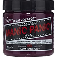 Manic Panic Plum Passion Hair Dye - Classic High Voltage - Semi Permanent Hair Color...