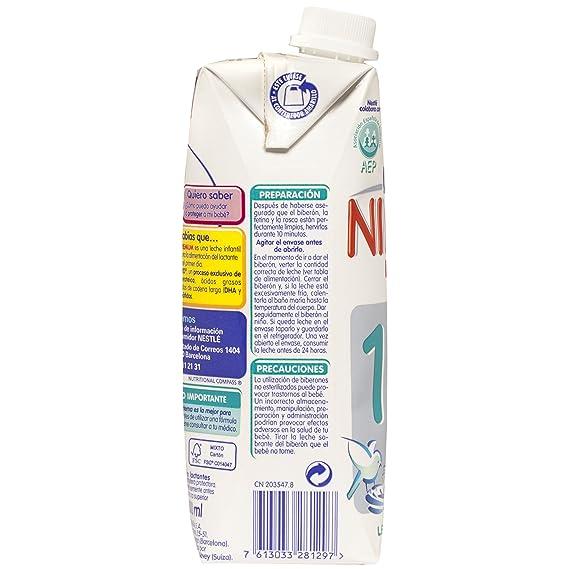 Nidina - 1 Leche para lactantes - 4 Paquetes de 500 ml: Amazon.es: Alimentación y bebidas