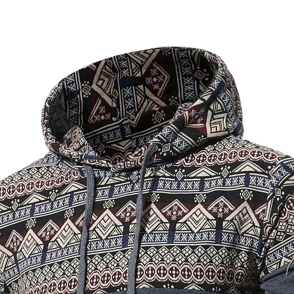 Sudadera cálida de los Hombres de Invierno Chaqueta de la Camisa Informal Chaqueta del suéter Caliente Suéter del Viento Nacional de la Vendimia: Amazon.es: ...