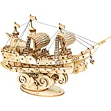 Rolife 3D Wooden Puzzle Sailing Ship DIY Craft Models Building Kits Gift for Adults and Teens