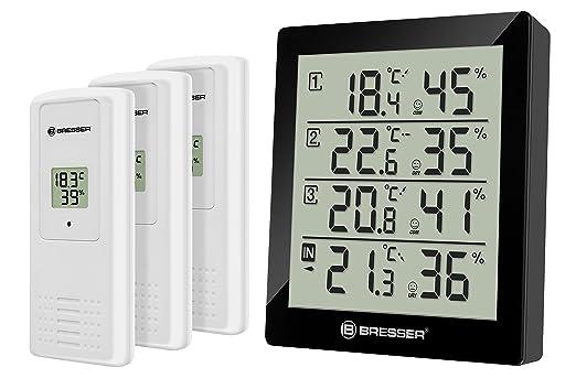88 opinioni per Bresser 7000020CM3000 Temeo Hygro Quadro Termometro e Igrometro per 4 Punti di