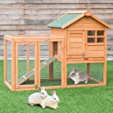 "Tangkula 48"" Chicken Coop Outdoor Garden Backyard Large Wood Hen House Rabbit Hutch Poultry Cage with Run"