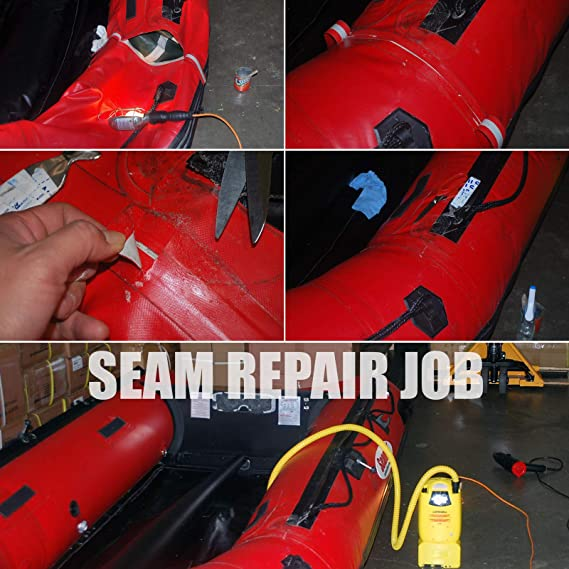 Seamax Repair Kit for Inflatable Boats, Professional PVC or Hypalon  Versions with 2 Part Glue (250ml 2-Part Hypalon Glue, Glue Only)