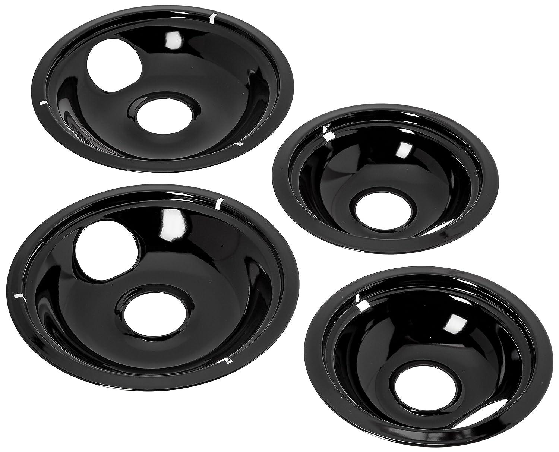 Electric Stove Drip Pans 4 Set 2x6 Quot 2x8 Quot Black Porcelain