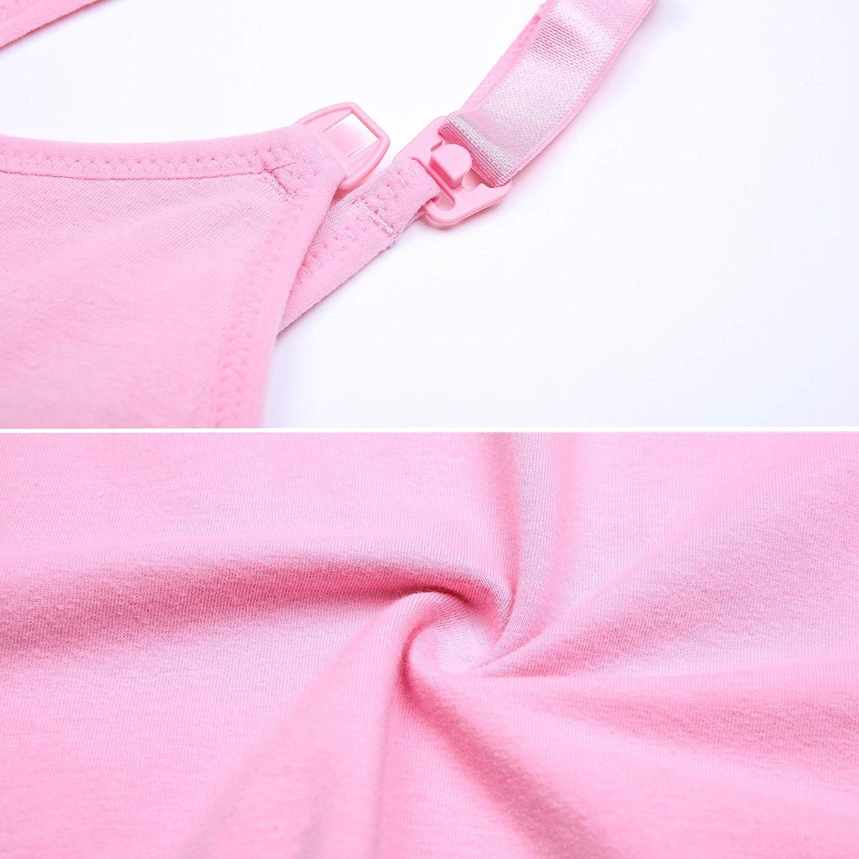 CAKYE 3PACK Nursing Tank Tops Maternity Bra Postpartum Breastfeeding Cami Shirt