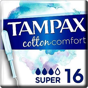 Tampax Cotton Comfort Super X16 – sello, 100% algodón con ...