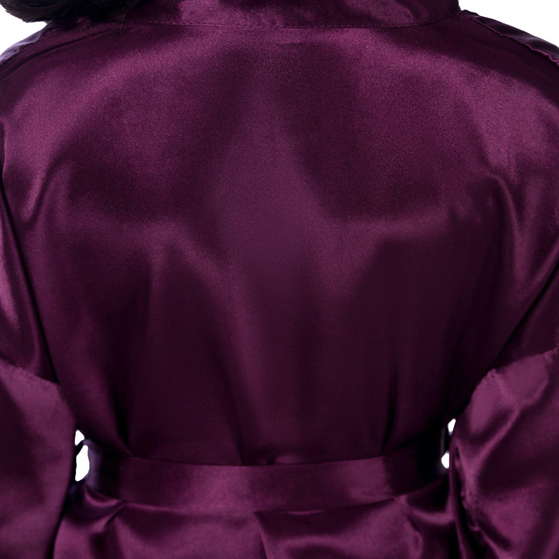 Admireme Kids' Satin Kimono Robe Bathrobe Nightgown For Spa Party Wedding Birthday