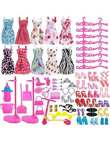 Asiv 110 Piezas Ropa de Moda, Zapatos y Accesorios para Las muñecas Barbie, Incluyendo