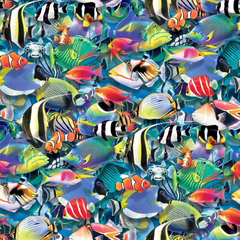GRAPHICS & MORE Ocean Coral Reef Fish Jam Diving Pattern Premium Roll Gift Wrap Wrapping Paper