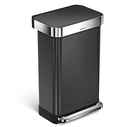 Ordinaire Simplehuman 45 Liter/12 Gallon Stainless Steel Rectangular Kitchen Step Trash  Can With Liner Pocket