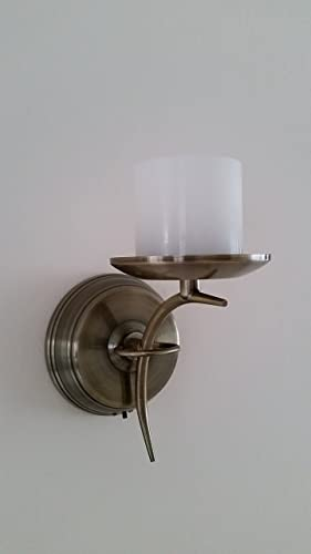 battery wall sconce. Flameless Candle Wall Sconce - Brass Battery Operated