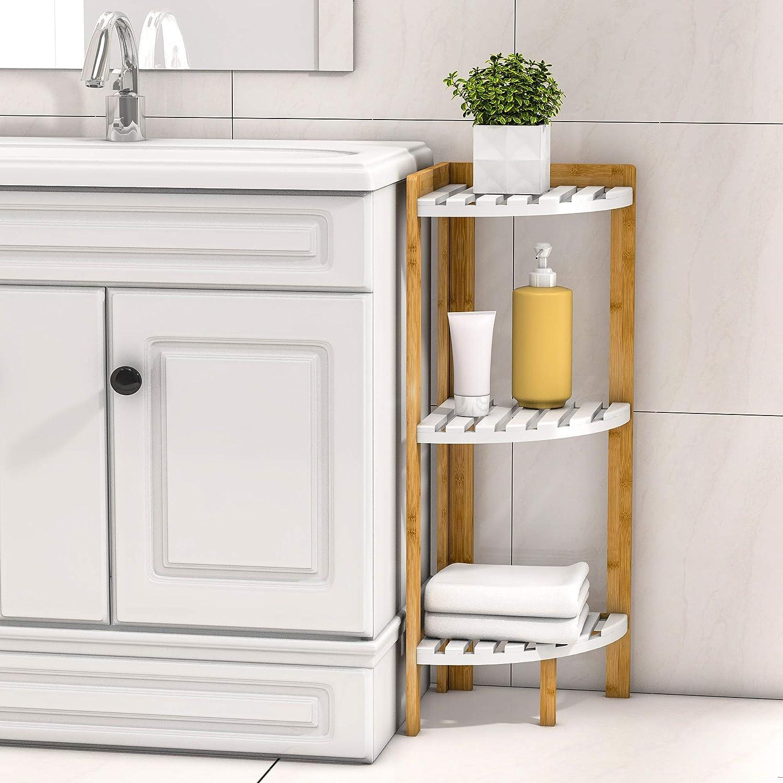 Amazon Com Corner Shelf Stand 3 Tier Corner Stand For Corner Display And Storage In Bathroom Living Room Bedroom Kitchen Dining
