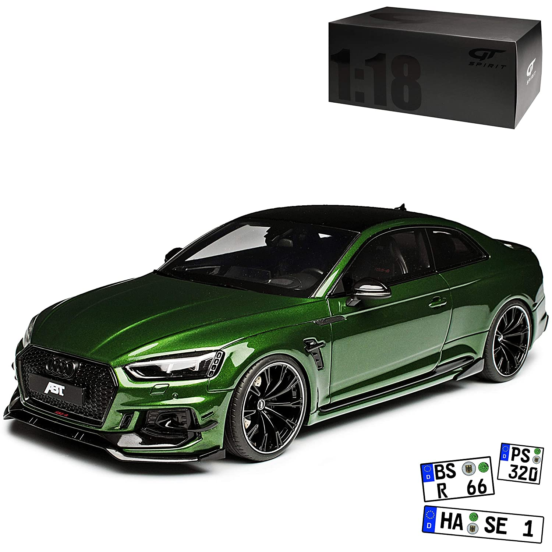 Mit Wunschkennzeichen GT Spirit Audi A5 RS5 R ABT F5 II Coupe Grün 2. Generation Ab 2016 Nr 244 1 18 Modell Auto mit individiuellem Wunschkennzeichen
