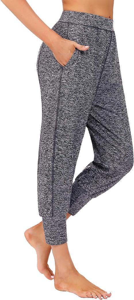 iClosam Damen Jogginghose Sport Streifen Lang High Waist Elastischer Bund Yoga Hose