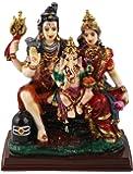 Sunny Corps Shiv Parvati Ganesha Shiv Parivar Gift Statue Idol Showpiece Sculpture Murti Lxhxw(cm) = 12.5X14X7