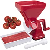Tomato Food Strainer- Juicer Food Mill for Easy Purees- No Coring, Peeling or Deseeding