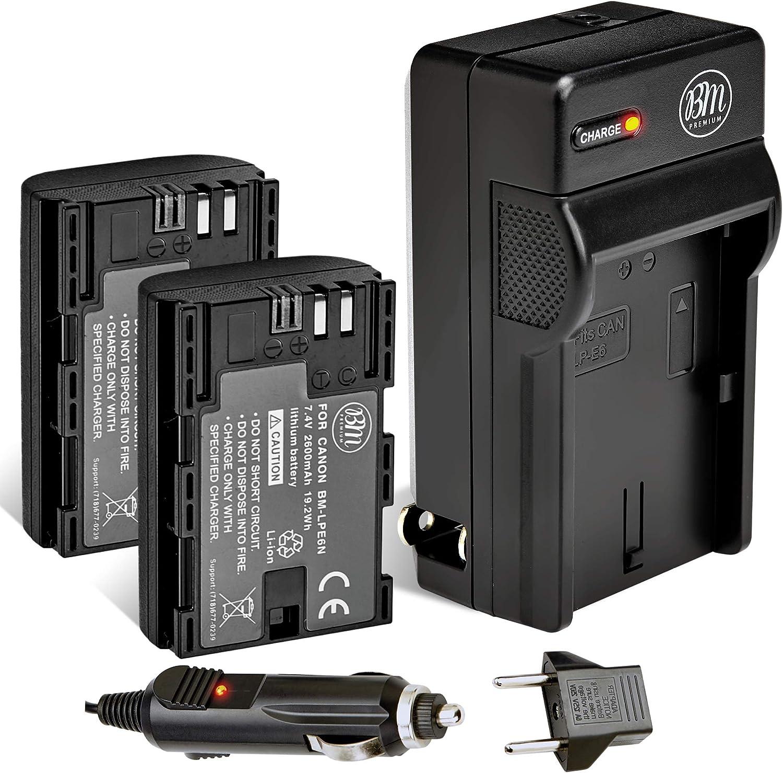 Amazon Com Bm 2 Pack Lp E6n Batteries And Charger For Canon Eos R Eos 90d Eos 60d Eos 70d Eos 80d Eos 5d Ii Eos 5d Iii Eos 5d Iv Eos 5ds