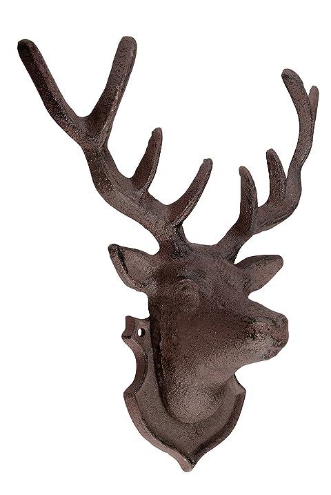 Amazon.com : Esschert Design Wall Décor Deer : Wall Sculptures ...