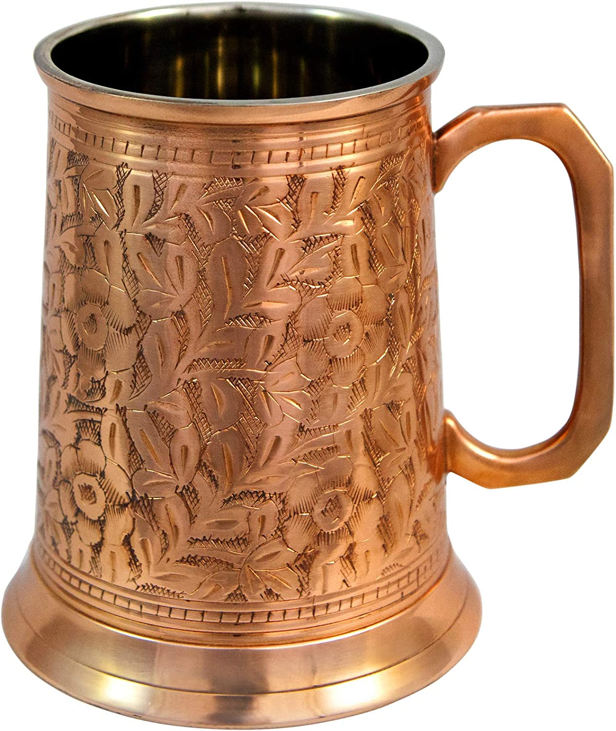 Copper OFFicial German Beer Stein 5 ☆ popular Large - Antique Handcrafted
