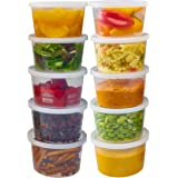 DuraHome - Deli Containers with Lids Leakproof - 40 Pack BPA-Free Plastic Microwaveable Clear Food Storage Container Premium
