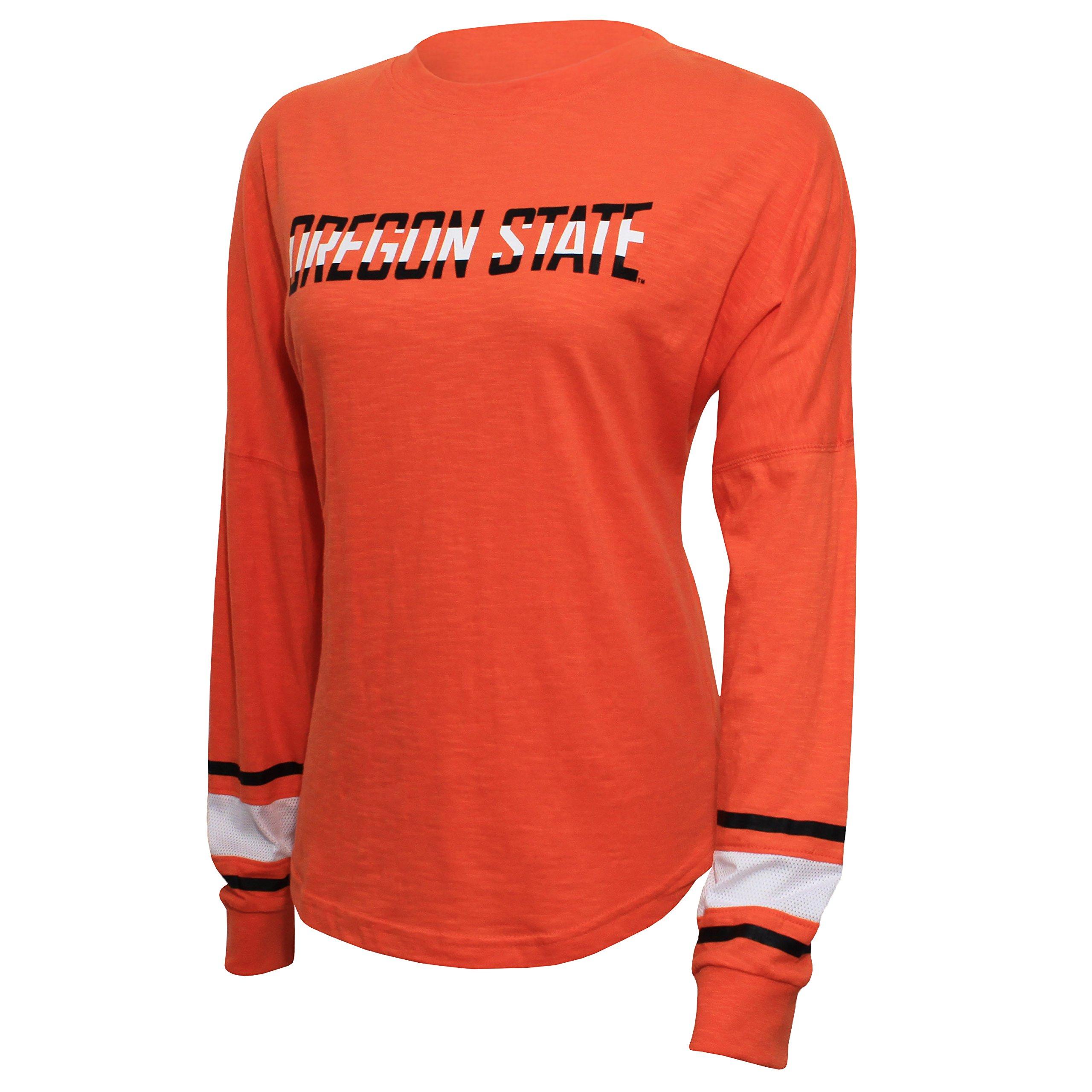 NCAA Oregon State Beavers Women's Campus Specialties Long Sleeve Fan Tee, XX-Large, Orange