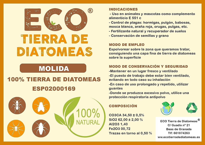 ECO Tierra de diatomeas Molida 25kg - Producto 100% Natural y ...