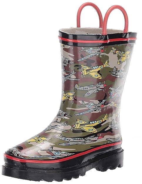 Kids Printed Rain Boots, Fighter Plane
