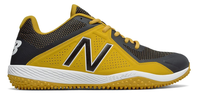 (ニューバランス) New Balance 靴シューズ メンズ野球 Turf 4040v4 Black with Yellow ブラック イエロー US 5.5 (23.5cm) B0749YSN4F