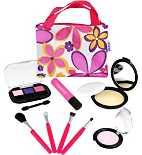 Click N Play Pretend Cosmetic And Makeup Set With Floral Tote Bag