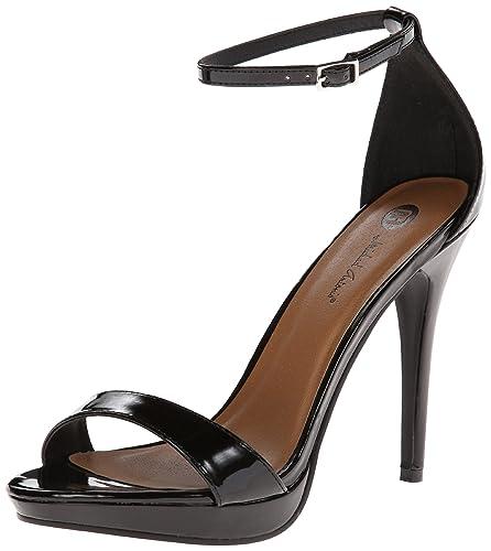 7804543a9 Michael Antonio Women s Lovina-PTN Dress Sandal Black 7.5 ...