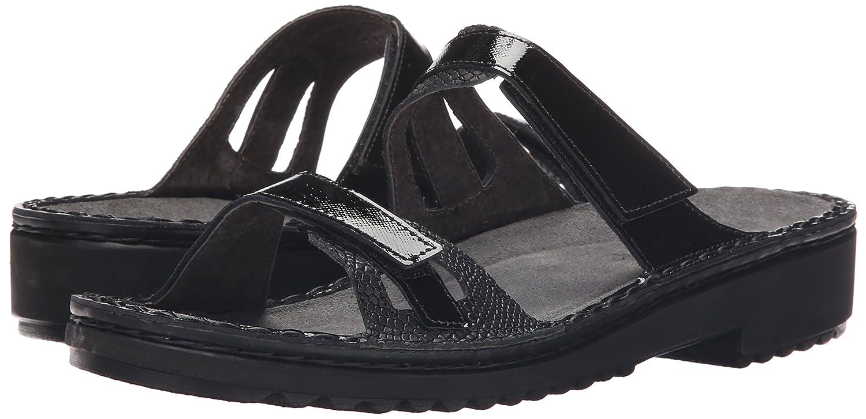 NAOT Women's Sanna Flat Sandal B010AZQFLC 41 M EU / 10 B(M) US|Black Luster Combo