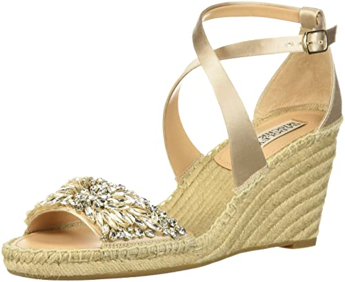 a2501db96cb Badgley Mischka Women s Scarlette Espadrille Wedge Sandal  Amazon.ca ...