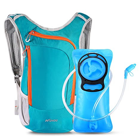 Foldable PEVA Water Bag Backpack Bladder Hydration Pack Climbing Cycling 2L